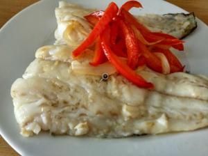 Receta de bacalao con pimientos rojos